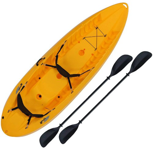 Two Person Tandem Sit-on Kayak with Padded Backrests