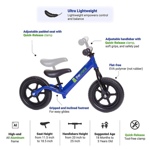 TheCroco - LIGHTEST Aluminum Balance Bike