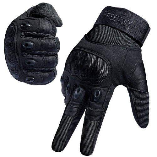 FREETOO Tactical Gloves Military Rubber Hard Knuckle Outdoor Gloves 5