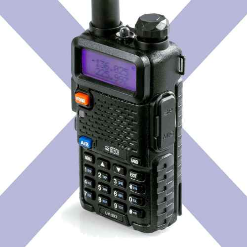 BTECH UV-5X3 5 Watt Tri-Band Radio