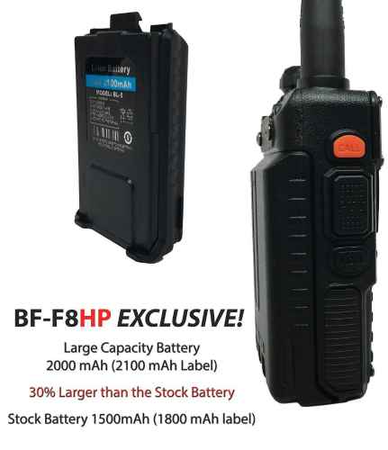BaoFeng 8-Watt Dual Band Two-Way Radio