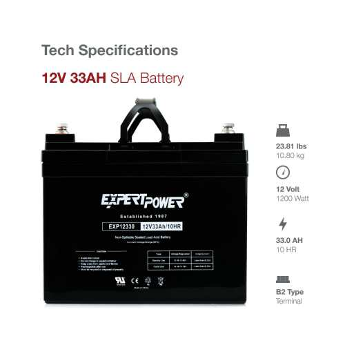 ExpertPower 12v 33ah Rechargeable Deep Cycle Battery 2