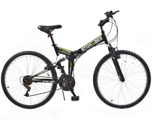 Folding Dual Suspension 18 Speed Shimano Gears Mountain Bike