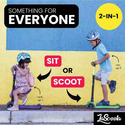 Lascoota 2-in-1 Kick Scooter 3
