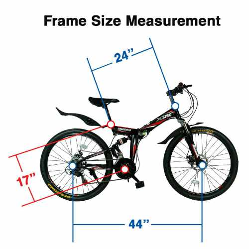 Xspec 21-Speed Folding Mountain Trail Bicycle 2