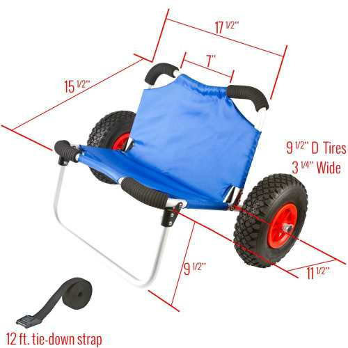 Apex KC Hybrid Wide Hull Kayak & Canoe Dolly Cart