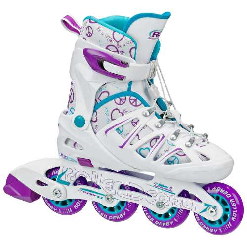 Roller Derby Girl's Stinger 5.2 Adjustable Inline Skate