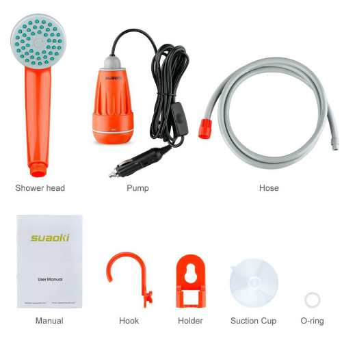 SUAOKI Upgraded Portable Camping Shower 2