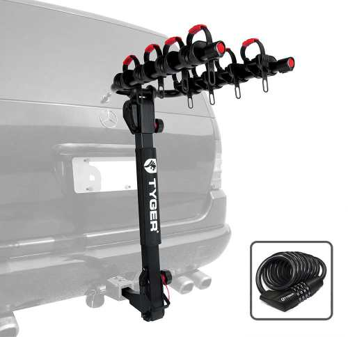 Tyger Auto TG-RK4B102B Deluxe 4-Bike Carrier Rack