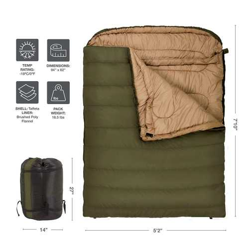 TETON Sports Mammoth Queen-Size Double Sleeping Bag