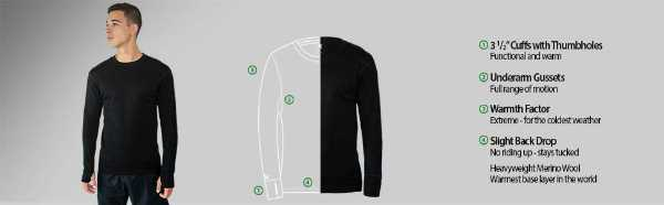 WoolX Glacier - Men's Merino Wool Base Layer 2