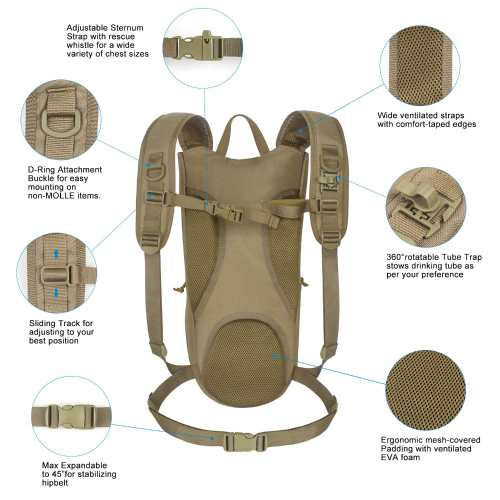 Unigear Tactical Hydration Pack Backpack