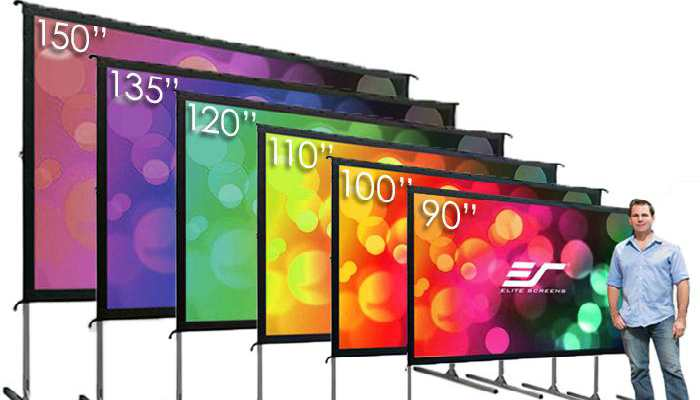best outdoor projector screens