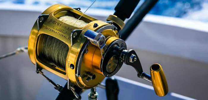 Top fishing reel